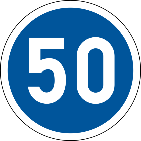 R101: Minimum Speed Sign