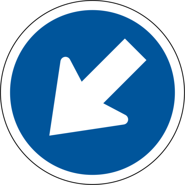R103: Keep Left Sign