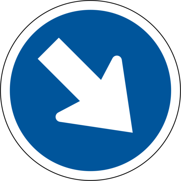 R104: Keep Right Sign