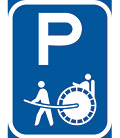 R318-P: Rickshaw Parking Reservation Sign