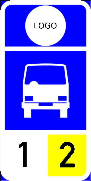 R326: Minibus Stop Reservation Sign