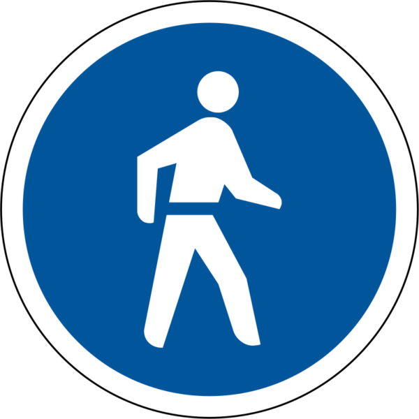 R110: Pedestrians Only Sign