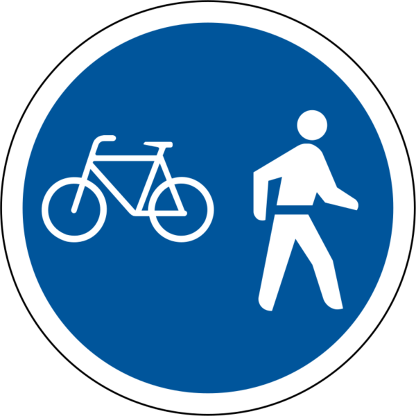 R112: Pedal Cycles & Pedestrians Only Sign