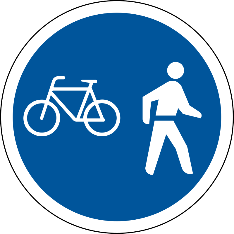 Where Is The Co U R: R112: Pedal Cycles & Pedestrians Only Sign