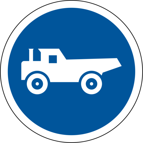 R125: Construction Vehicles Only Sign