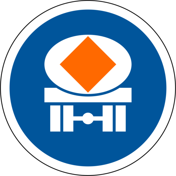 R126: Vehicles Conveying Dangerous Goods Only Sign