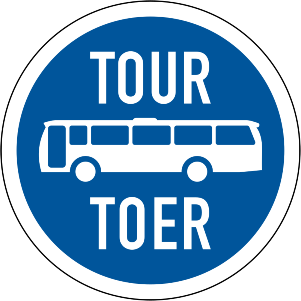 R129: Tour Buses Only Sign