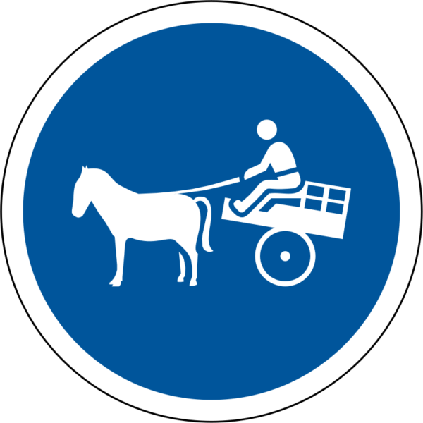 R131: Animal-drawn Vehicles Only Sign