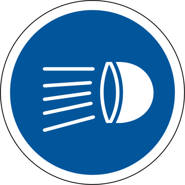 R133: Switch Head Lamps On Sign