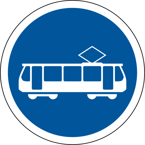 R138: Trams Only Signs