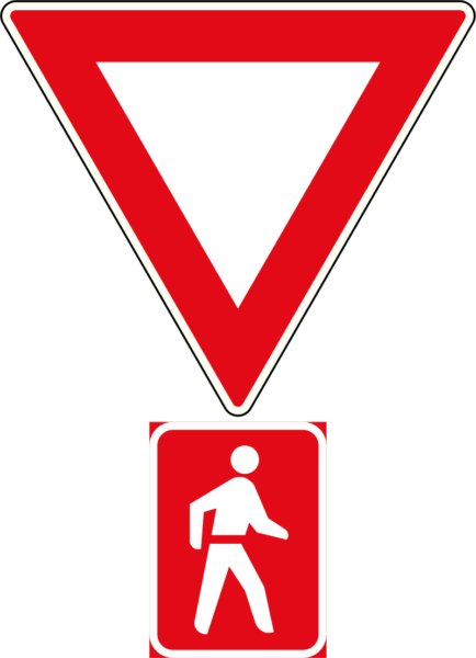 R2.1: Yield To Pedestrians Sign