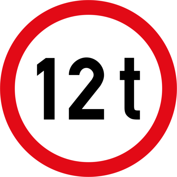 R202: Mass Limit Sign