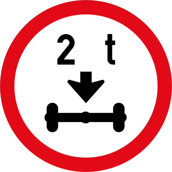 R203: Axle Mass Load Limit  Sign