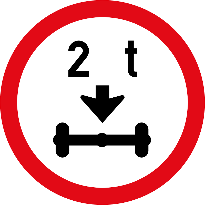 Where Is The Co U R: R203: Axle Mass Load Limit Sign