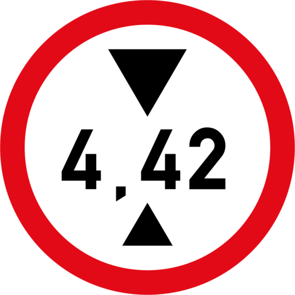 R204: Height Limit Sign