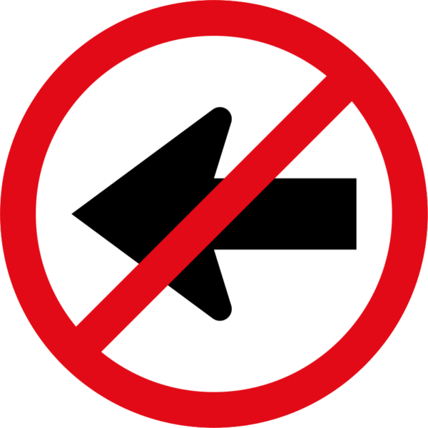 R211: Left Turn Prohibited
