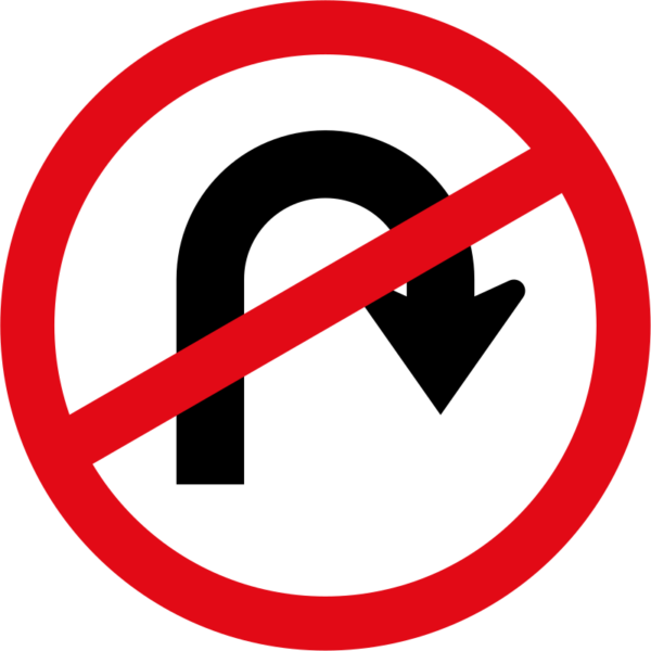 R213: U-Turn Prohibited Sign