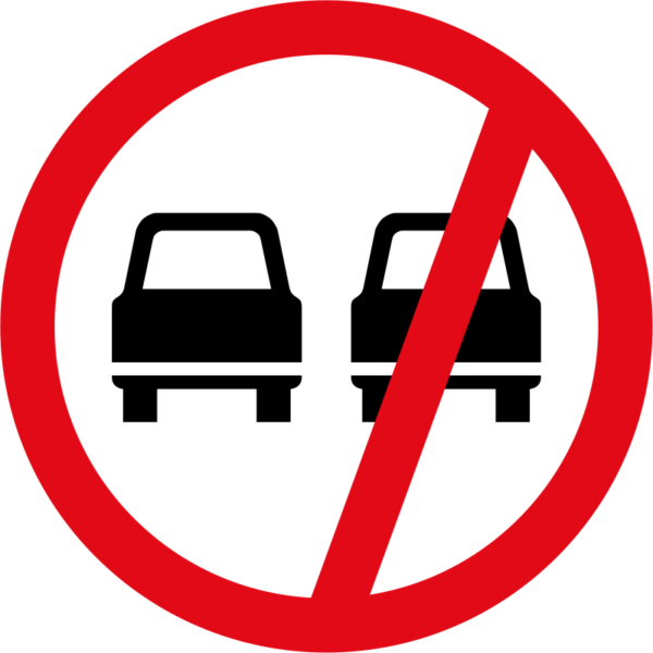 R214: Overtaking Prohibited Sign
