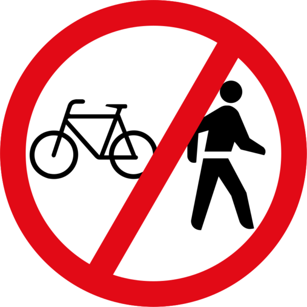 R220: Cyclists & Pedestrians Prohibited
