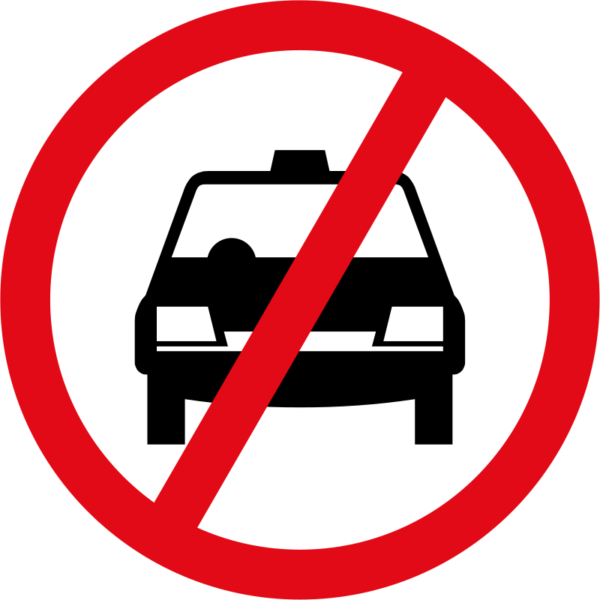 R224: Taxis Prohibited Sign
