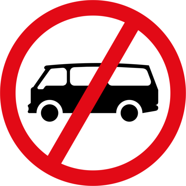 R225: Mini-buses Prohibited Sign