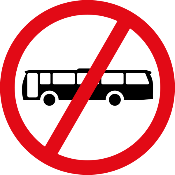 R227: Buses Prohibited Sign