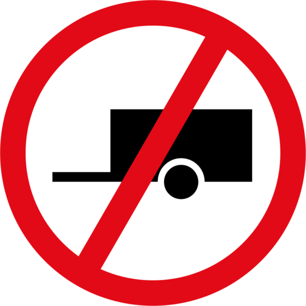 R240: Towed Vehicles Prohibited Sign