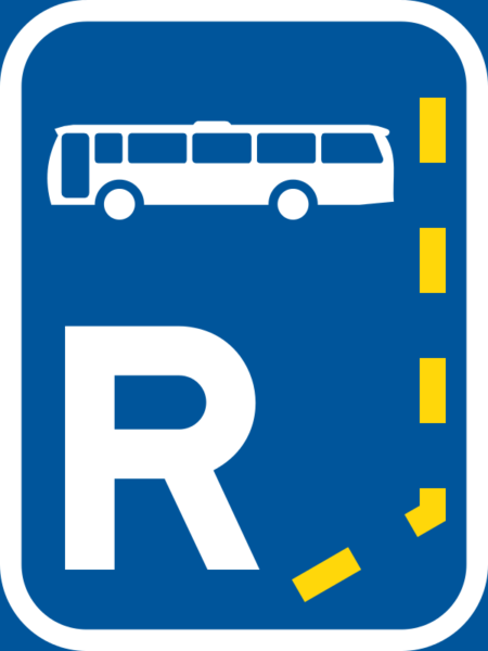 R303: Bus Lane Reservation Begins Sign