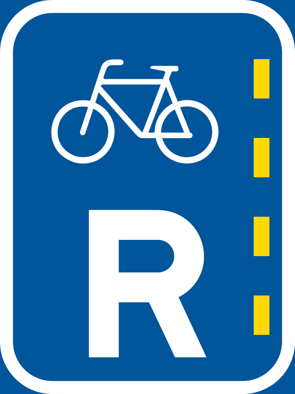 R304 Reserved Lane For Bicycles Sign Signs R Us