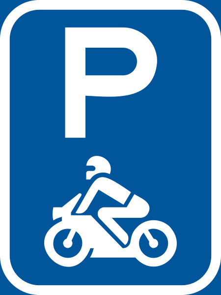 R307-P: Motor Cycles Parking Reservation Sign