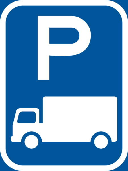 R313-P: Goods Vehicle Parking Reservation Sign