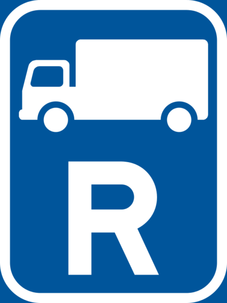 R313: Goods Vehicle Reservation Sign