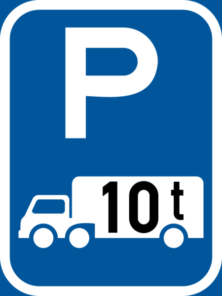 R314-P: Goods Vehicle Over Indicated GVM Parking Reservation Sign
