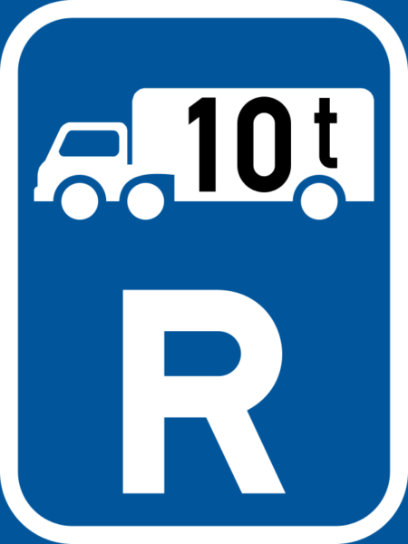 R314: Goods Vehicle Over Indicated GVM Reservation Sign