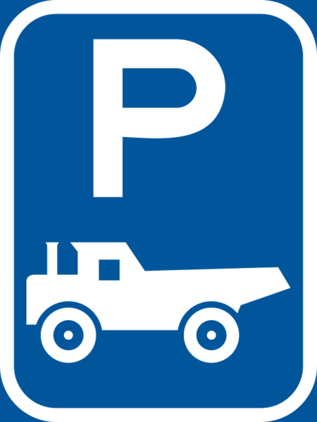 R315-P: Construction Vehicle Parking Reservation Sign