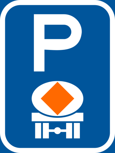 R316-P: Vehicle Conveying Dangerous Goods Parking Reservation Sign