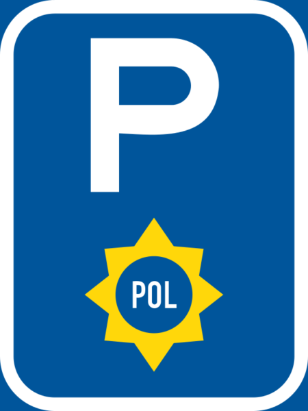 R322-P: Police Vehicle Parking Reservation Sign