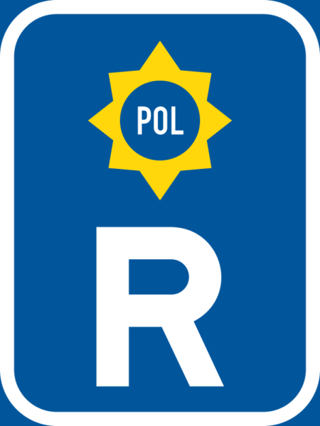 R322: Police Vehicle Reservation Sign