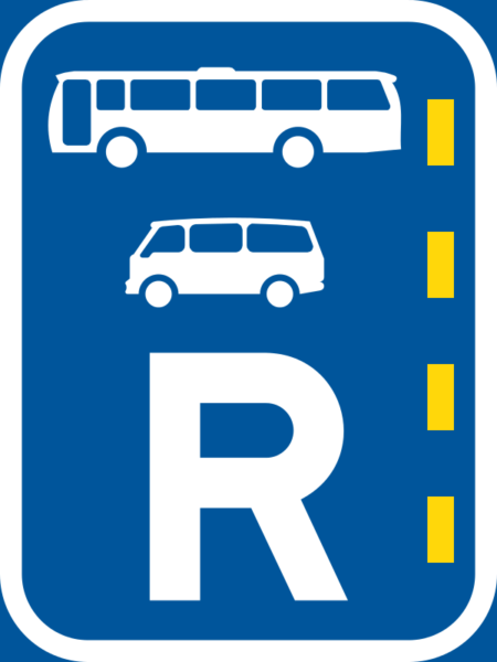 R328: Bus & Minibus Lane Reservation Sign