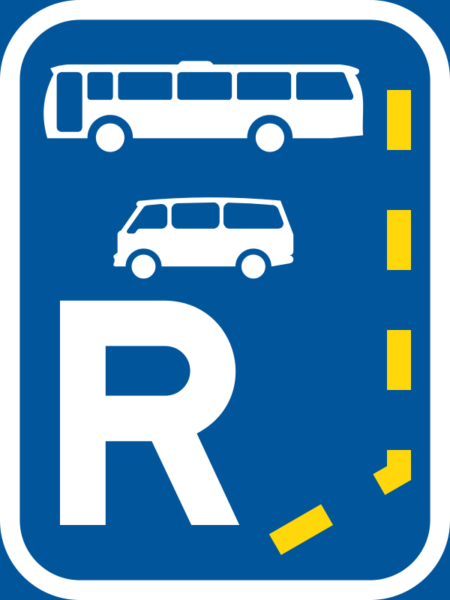 R329: Bus & Minibus Lane Reservation Begins Sign
