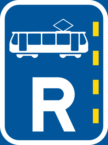 R339: Tram Lane Reservation Sign
