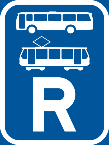 R342: Bus & Tram Reservation Sign