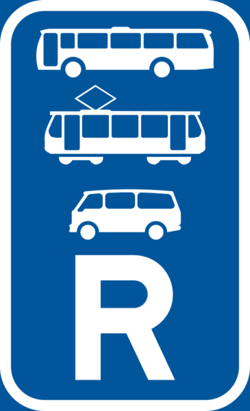 R345: Bus, Minbus & Tram Reservation Sign