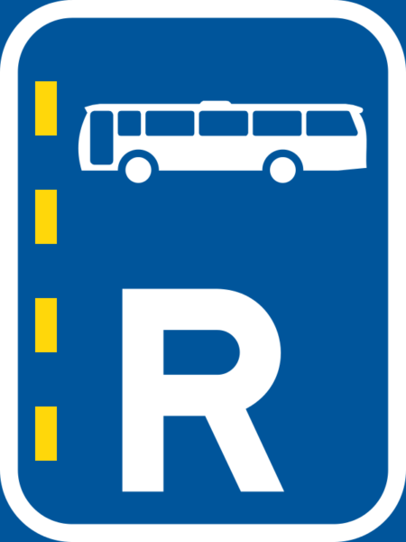 R348: Bus Lane Right Reservation Sign