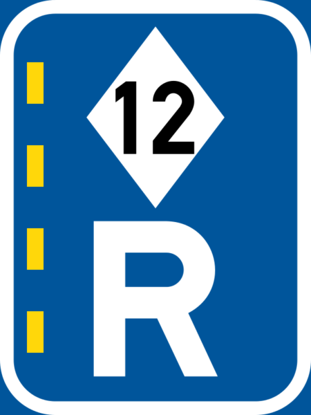 R352: High Occupancy Vehicle Lane Right Reservation Sign