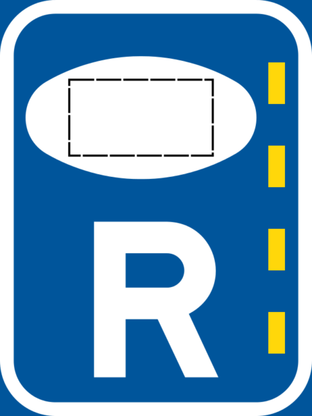 R353: Authorized Passenger Transport Vehicle Lane Reservation Sign Right