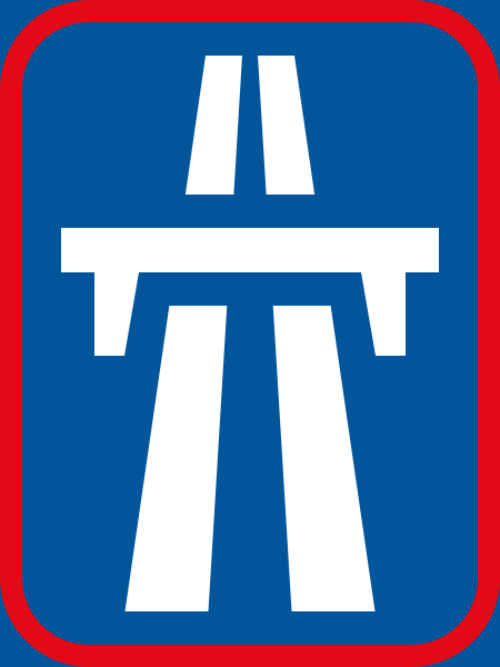R401: Dual-Carriageway Freeway Begins Sign