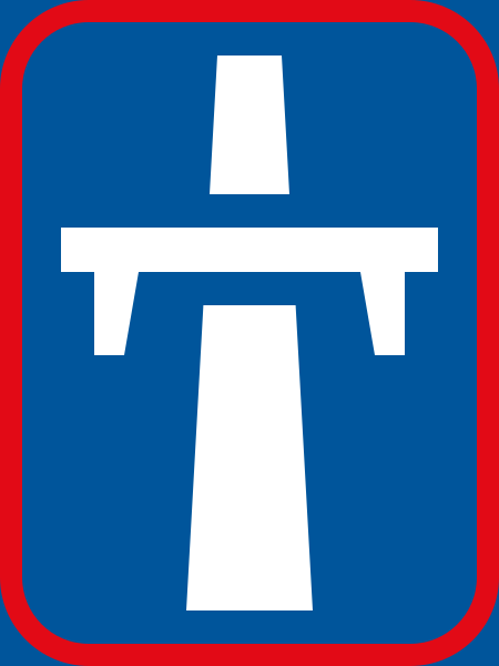 R402: Single-Carriageway Freeway Begins Sign