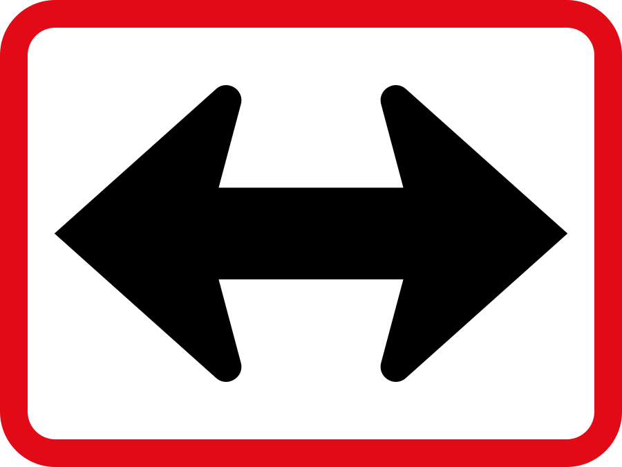 R522 Reserved Movement To Left Right By Vehicle Class Sign