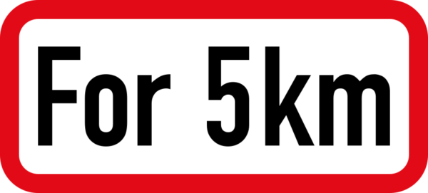 R535: Distance *For* Limit Sign (Text)